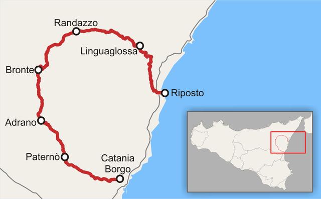 Cartina Ferroviaria Sicilia.Un Giro Dell Etna Con La Circumetnea Sicily Holiday Com