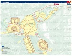 Syracuse archaeological park map SicilyHolidaycom