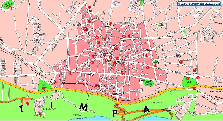 Cartina Sicilia Pdf.Cartina Turistica Di Acireale Sicily Holiday Com