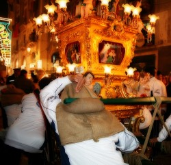 Candelore at St. Agatha feast in Sicily