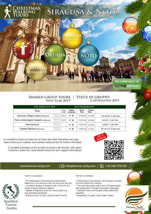 Syracuse and Noto walking tours